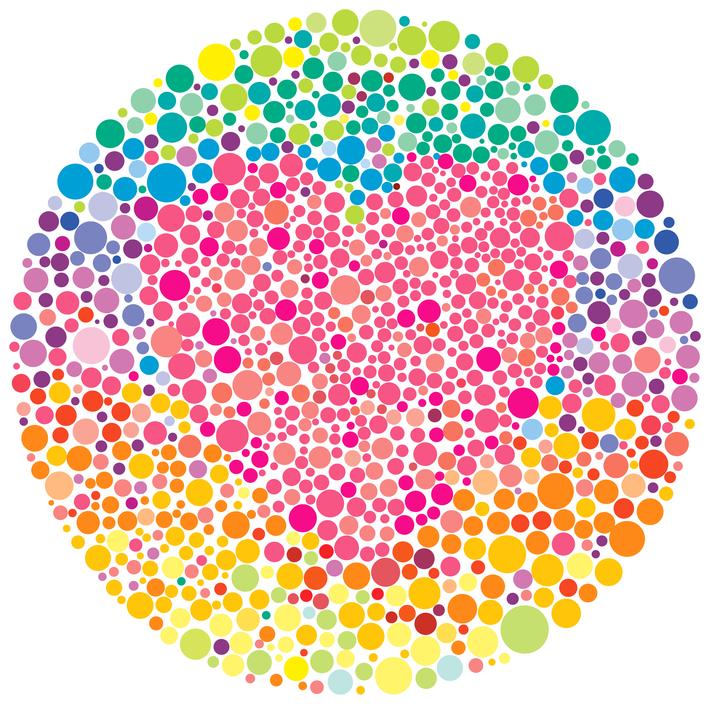 teste senso cromático (Ishihara) avaliação visão de cores daltonismo